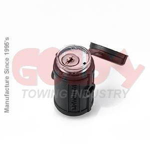 11402 1/4 Inch Adjustable Swivel Lock Head Stainless Steel Trailer Coupler Lock