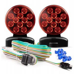 101018W 12V LED Magnetic Towing Light Kit for Boat Trailer RV Truck