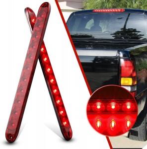 101227 16 Inch 11 LED Trailer Light Bar Strip 12V Tail Light Bar Waterproof Red Bar Light