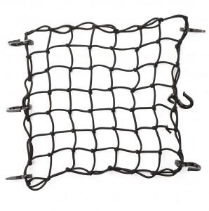102013A 15″x15″ Black Latex Bungee Cargo Net Gear Helmet Luggage Netting