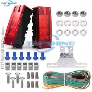 101002E 12V Led Rectangular Waterproof Trailer Tail Lights Kit