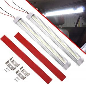 101224 13 Inch 72 LED Interior Light Bar 12V/24V RV Strip Light With ON/Off Switch