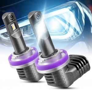 101220 H11 H9 H8 LED Headlight Bulbs Bright White Headlight Bulbs