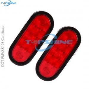 High Quality Trailer Lights - 101012PR 6 Inch Waterproof Oval LED Trailer Lights Stop Turn Signal Tail Brake Lights  – Goldy