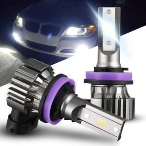 101228W H11 Super Bright Xenon White LED Fog Light Bulbs Fog Bulb Replacement