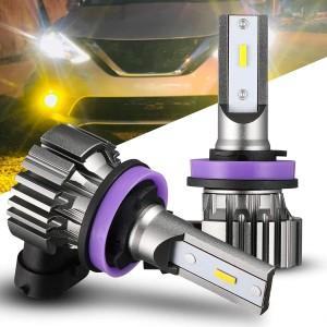 101228Y H11 Yellow LED Fog Light Bulbs Amber LED Fog Bulb Replacement