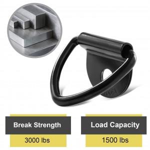 102078 V Ring Tie Down Anchors 1/4″ Heavy Duty Steel Tie Down Hooks for Truck