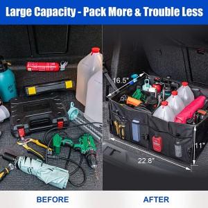 102088 Car Trunk Organizer Foldable Cargo Trunk Storage Organizer