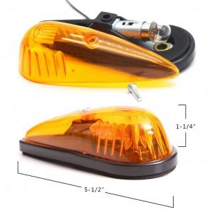 101507 Amber Teardrop Cab Clearance Marker Roof Running ID Light