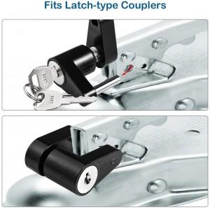 11410 1/4 Inch Black Trailer Hitch Coupler Lock