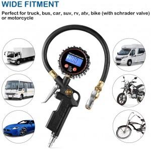 102027 Digital Tire Inflator Pressure Gauge LED Display Tyre Deflator Gage