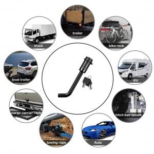 11305 5/8 Inch Black Trailer Hitch Receiver Bent Pin Lock