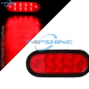 101012PR 6 Inch Waterproof Oval LED Trailer Lights Stop Turn Signal Tail Brake Lights