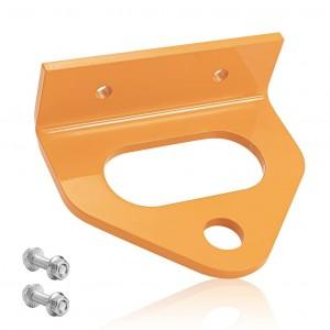 10303 Zero Turn Mower Trailer Hitch 2.5″ Hole Center 3/4″ Pin Hole Orange