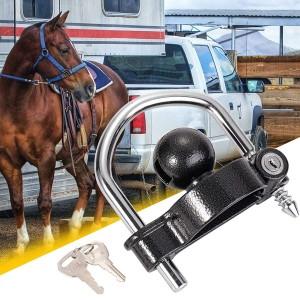 11600BU Heavy Duty Anti-Theft Universal Black Trailer Hitch Tow Ball Coupler Security Kit